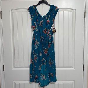 NWT Teal Dress-Style Romper
